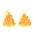 bonfire set design element vector image vector image