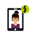cellphone service vector image vector image