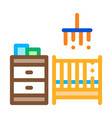 children room icon outline vector image vector image
