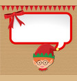 christmas card design with little elf vector image