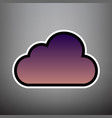 cloud sign violet gradient vector image vector image