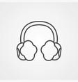earmuffs icon sign symbol vector image vector image