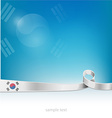 flag of south korea on background vector image vector image