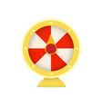 fortune wheel logo casino random winner slot vector image vector image