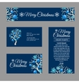 Four greeting card with stylish Christmas tree vector image vector image