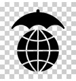 global umbrella icon vector image vector image