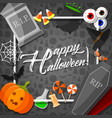 halloween frame with orange background vector image vector image