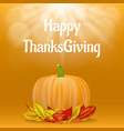 happy thanksgiving concept background realistic vector image vector image