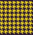 houndstooth purple and yellow fabric seamless vector image