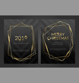invitation template gold lines on a black vector image vector image