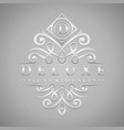 letter d logo - classic luxurious silver vector image vector image