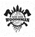 Lumberjack hard work vector image
