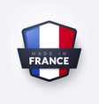 made in france badge seal with french colors vector image vector image