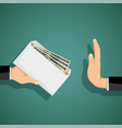 man giving a bribe in an envelope vector image
