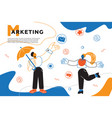 marketing - colorful flat design style web banner vector image