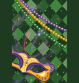 mask and beads vector image vector image