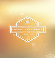 Merry Christmas and happy new 2016 year white logo vector image vector image