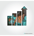 Minimal style Business Graph Concept vector image