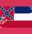 mississippi grunge flag vector image vector image