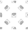 money corruption pattern seamless vector image vector image