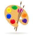 palette for paints 02 vector image vector image