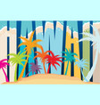 palm background and words hawaii vector image