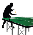 ping pong player silhouette 2 vector image vector image