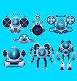 robots underwater submarines ocean sea drones vector image