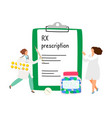 rx prescription concept vector image vector image