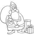 santa claus cartoon for coloring book vector image vector image
