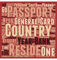 Second Passports How Where and Why text background vector image vector image