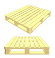 set of wooden pallet isolated on white vector image vector image