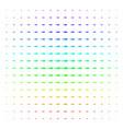 shark shape halftone spectrum pattern vector image vector image