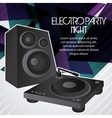Speaker icon Electro Party design graphic vector image