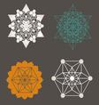 Star Tetrahedron designs vector image vector image