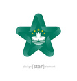 star with Macau flag colors and symbols vector image vector image