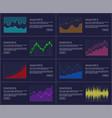 statistics visual presentation vector image vector image