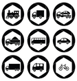 transport monochromatic icons vector image