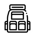 travel camping backpack icon outline vector image vector image