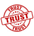 trust stamp vector image vector image