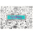 Tutoring on paper vector image vector image