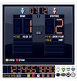 Universal Sport Scoreboard vector image vector image