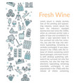 vertical text card template fresh wine vector image vector image