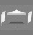 white promotional advertising outdoor event tent vector image vector image