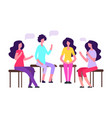 woman group therapy female vector image vector image