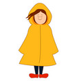 woman in raincoat on white background vector image vector image