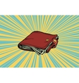 Leather wallet with cash vector image
