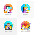 flat designed concepts - m-healthcare insurance vector image
