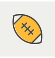 Football ball thin line icon vector image