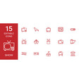 15 show icons vector image vector image